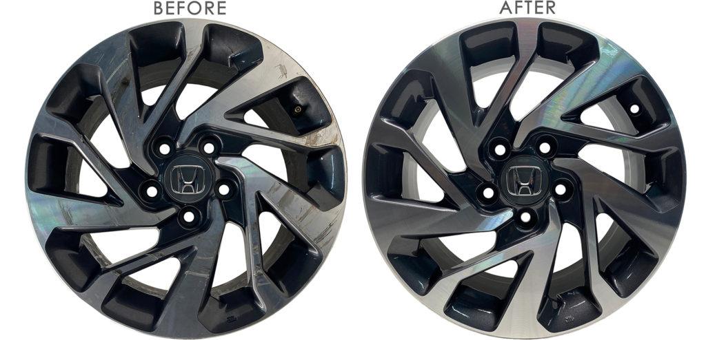 Las Vegas Wheel rim repair before and after